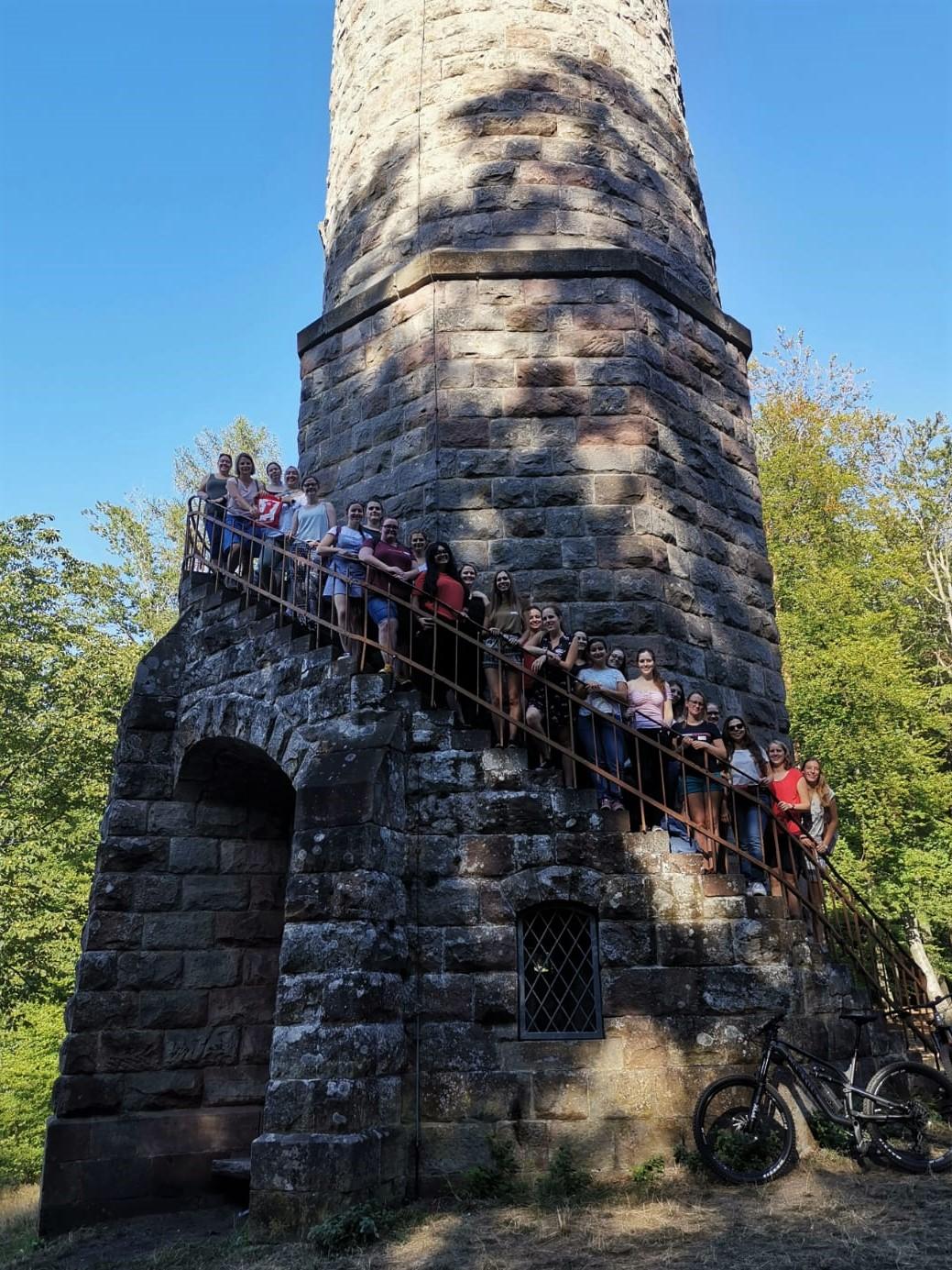 Das Ziel der Wanderung: Der Humbergturm