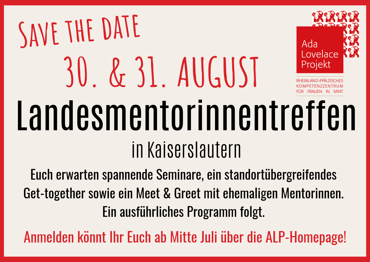 Save the Date: Landesmentorinnentreffen