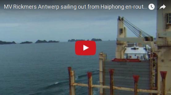 MV Rickmers Antwerp sailing out from Haiphong en-route to Hong Kong