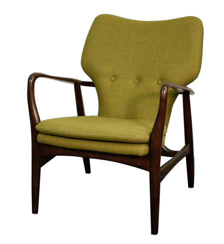 Mid-century-modern chair goes well with industrial chic furnishings