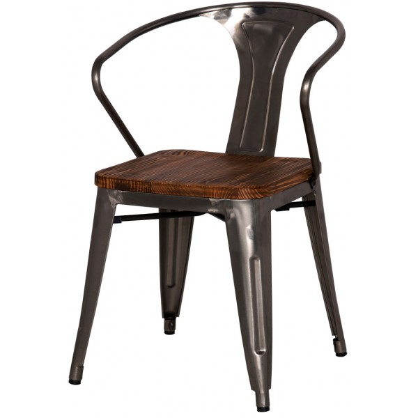 Industrial chic metal bistro chair