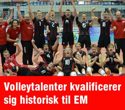 Det danske U19-herrelandshold i volleyball har sensationelt kvalificeret sig EM-slutrunden i Tyrkiet senere i år. Det er første gang nogensinde, at et dansk ungdomshold i volleyball har kvalificeret sig til EM.