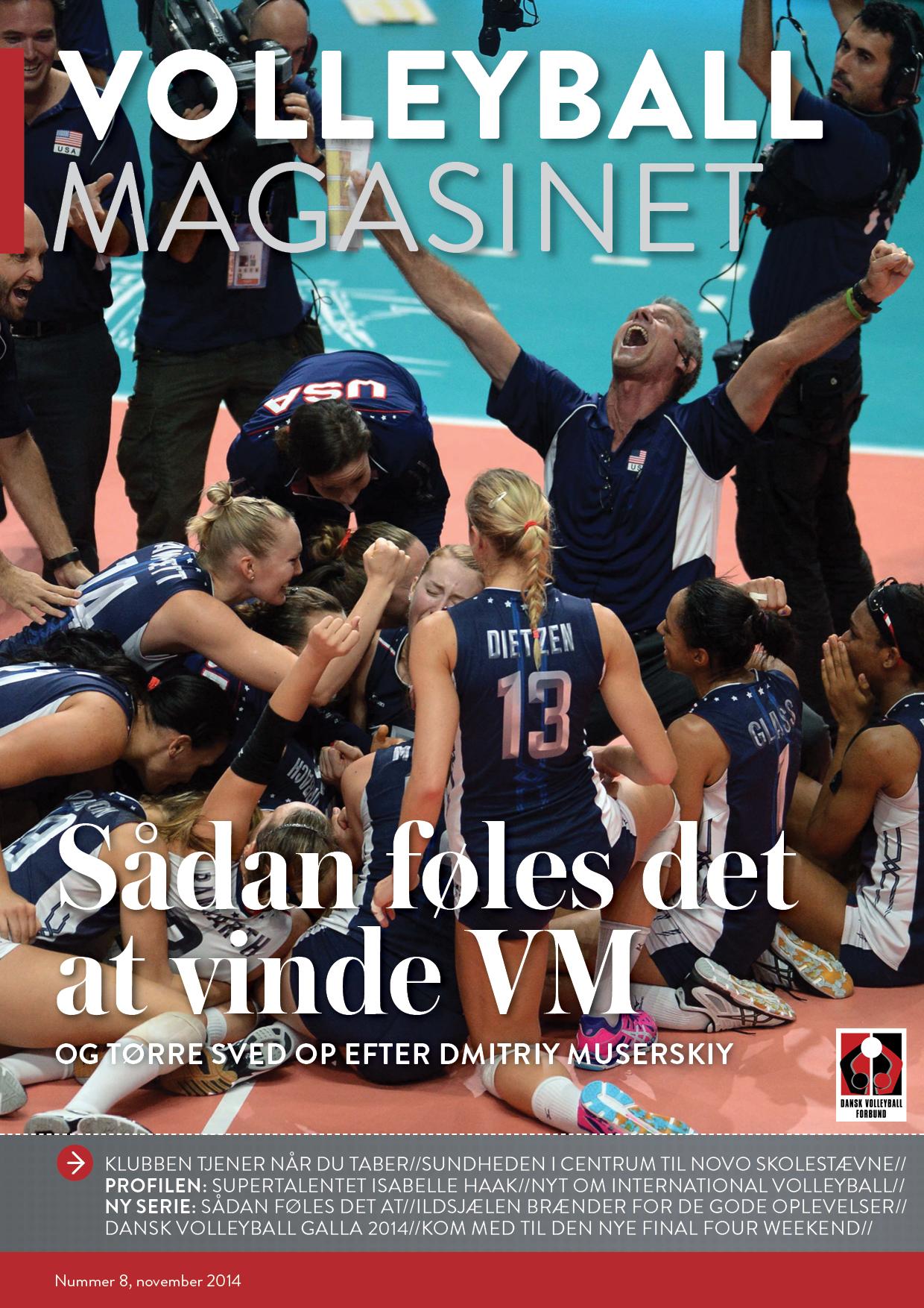 November-nummeret af Volleyball Magasinet har masser af følelser.