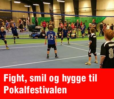 Fight, smil og hygge gik hånd i hånd, da 500 kids- og teenvolleyspillere gjorde årets Pokalfestival i Marienlystcentret til en succes.