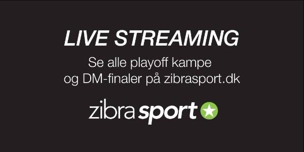 Zibra Sport sender samtlige playoff-kampe direkte. 24 af slagsen.