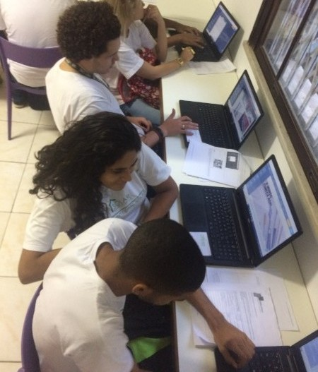 Students creating their website