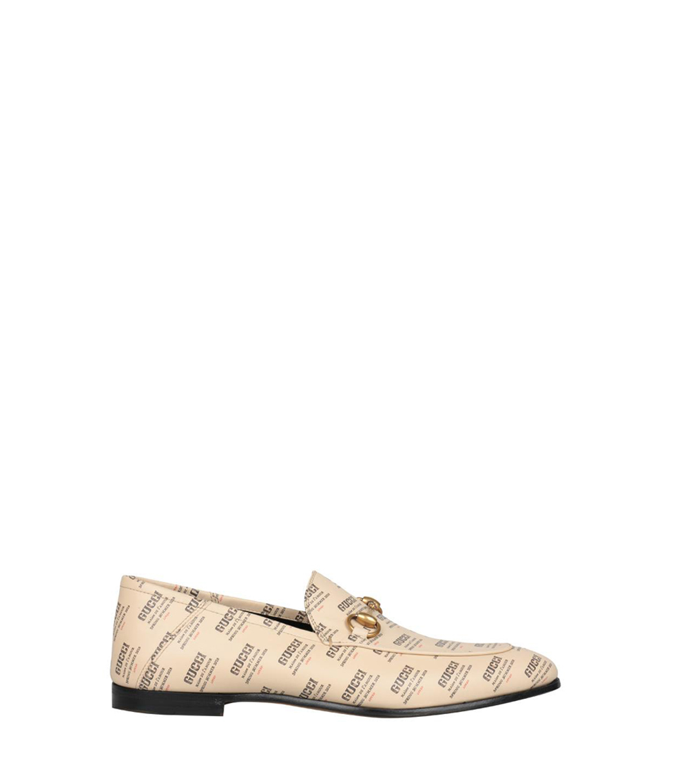 Gucci Leather Gucci Invite Print Loafers