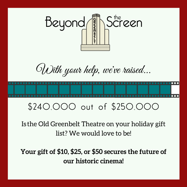 We've raised $240,000 of the $250,000 we need to turn our Pop-up into a permanent Screening Room. Will you donate today?