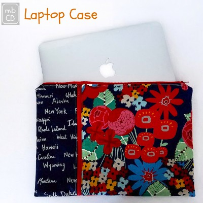 Lap Top Case and zipper pouch tute @madebyChrissieD.com