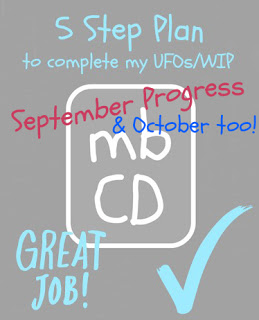 September and October Progress & News by Chris Dodsley @madebyChrissieD.com