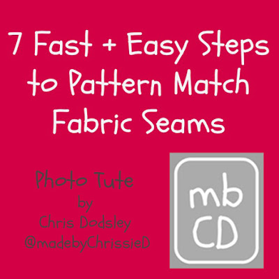 7 Fast And Easy Steps To Pattern Match Fabric Seams