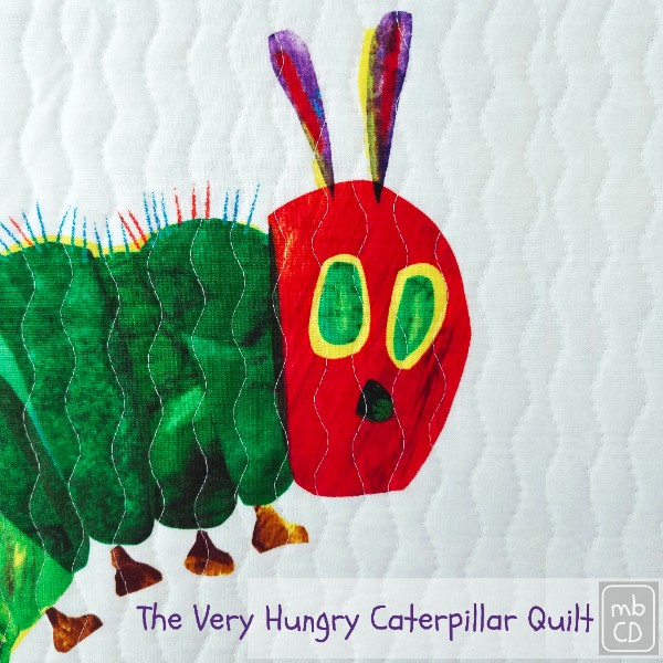 The Very Hungry Caterpillar Quilt by Chris Dodsley of madebyChrissieD.com
