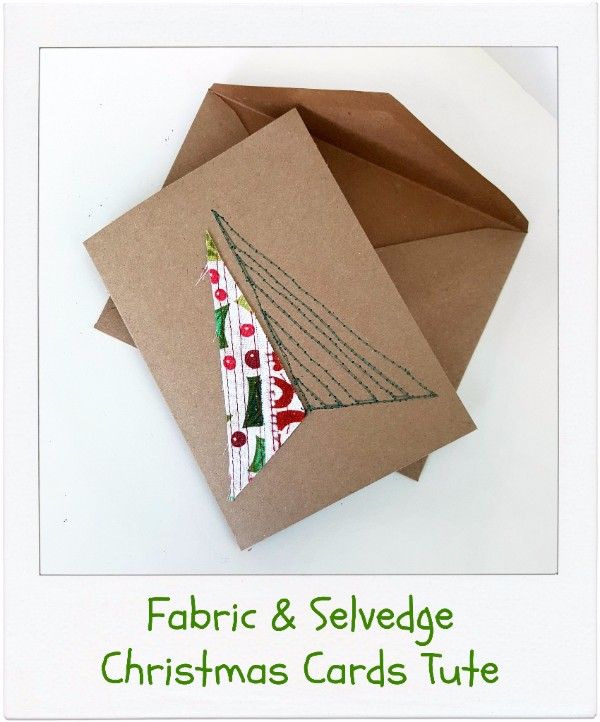 How To Make Selvedge & Fabric Christmas Cards