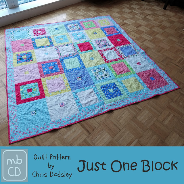 Just One Block FQ Friendly Free Quilt Pattern by madebyChrissieD.com