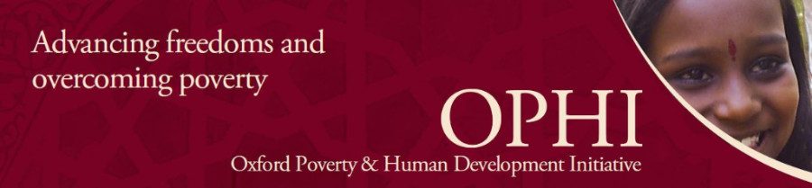 OPHI banner: Advancing freedoms and overcoming poverty