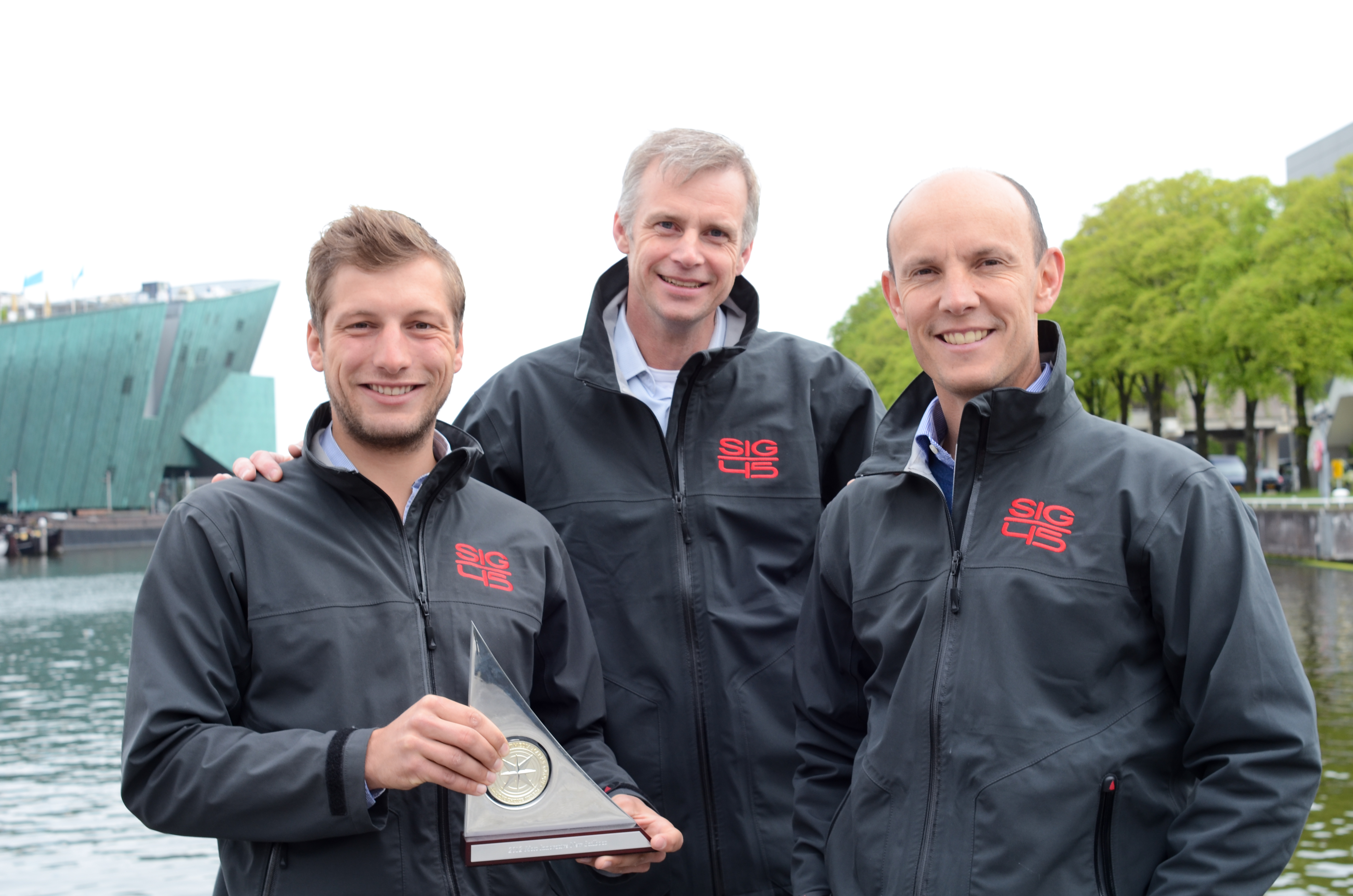 Team Le Breton Yachts with award