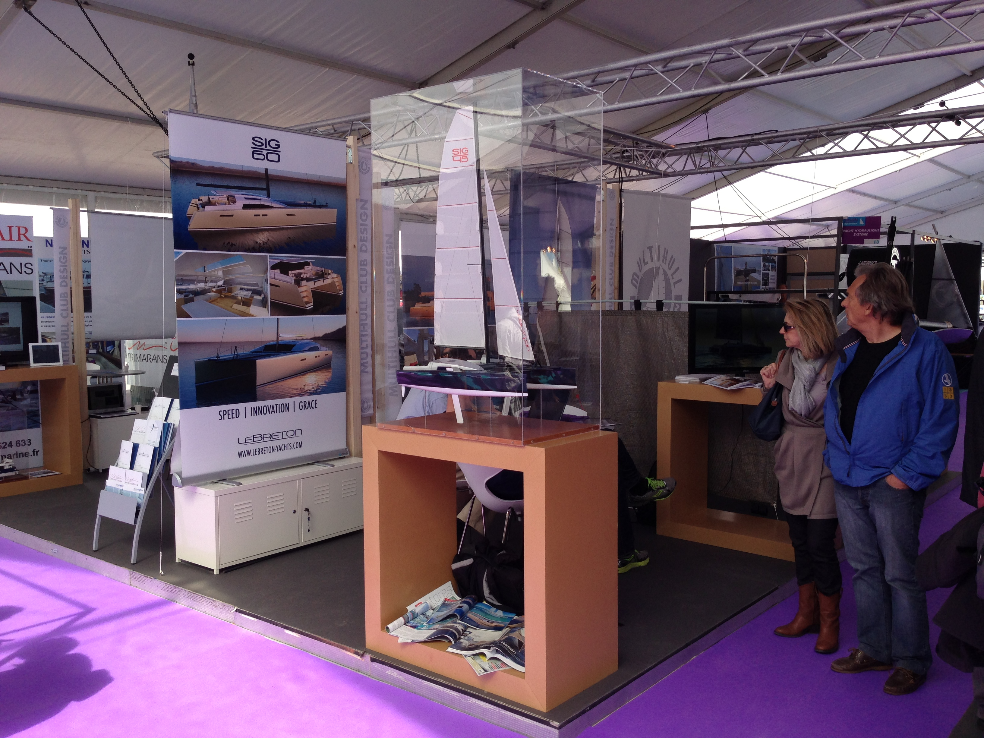 The Le Breton Yachts Stand at the International Multihull Boatshow 2013