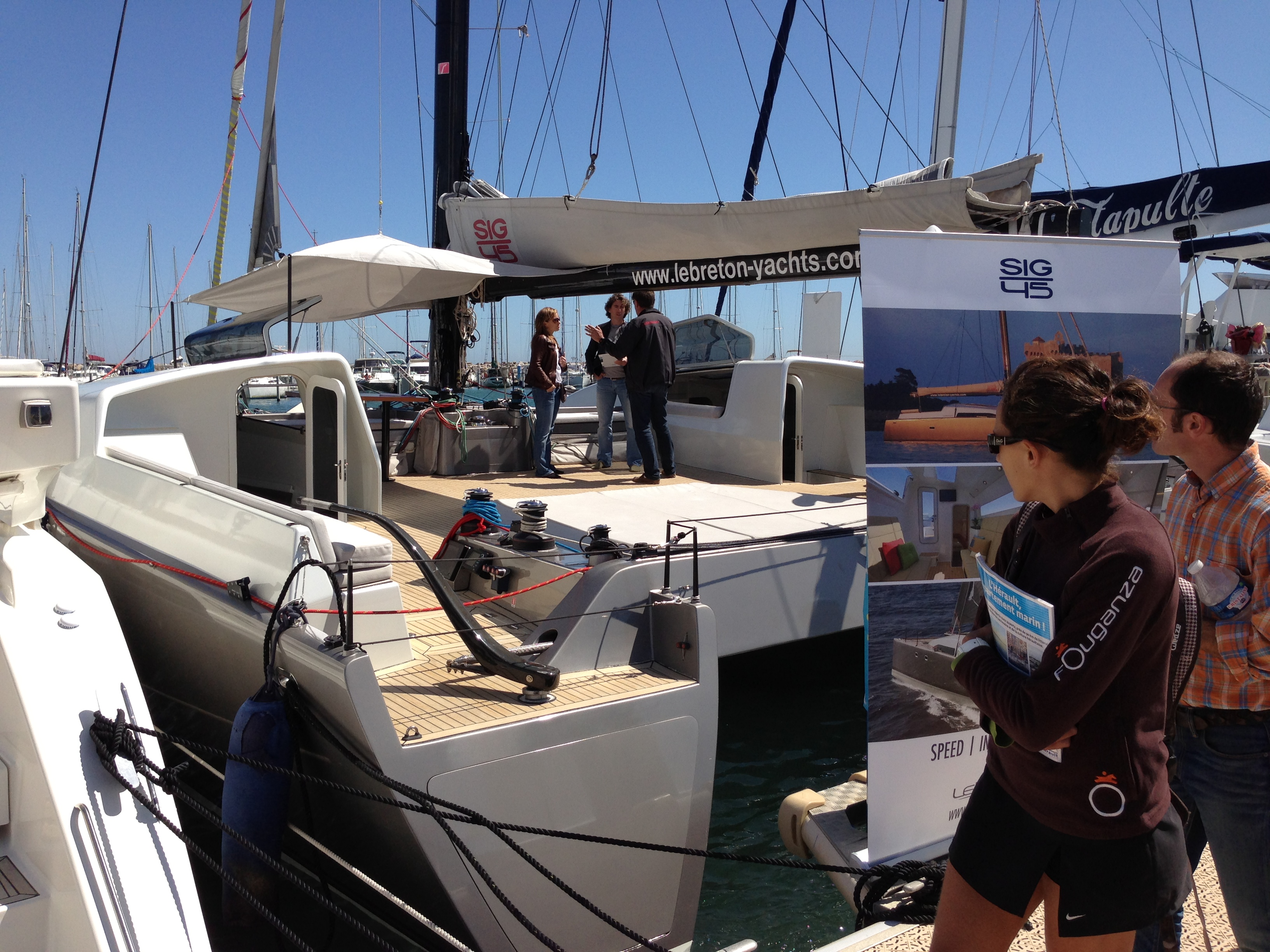 The Sig45 at the International Multihull Boatshow 2013