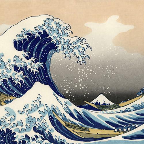 Hokusai's Wave - print by Motoharu Asaka