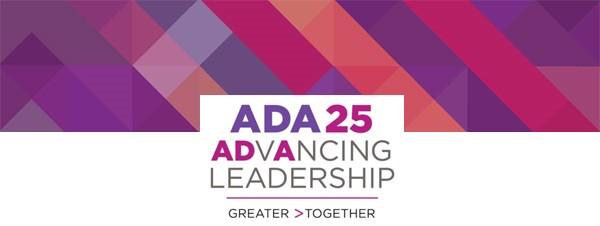 ADA 25 Advancing Leadership logo and header