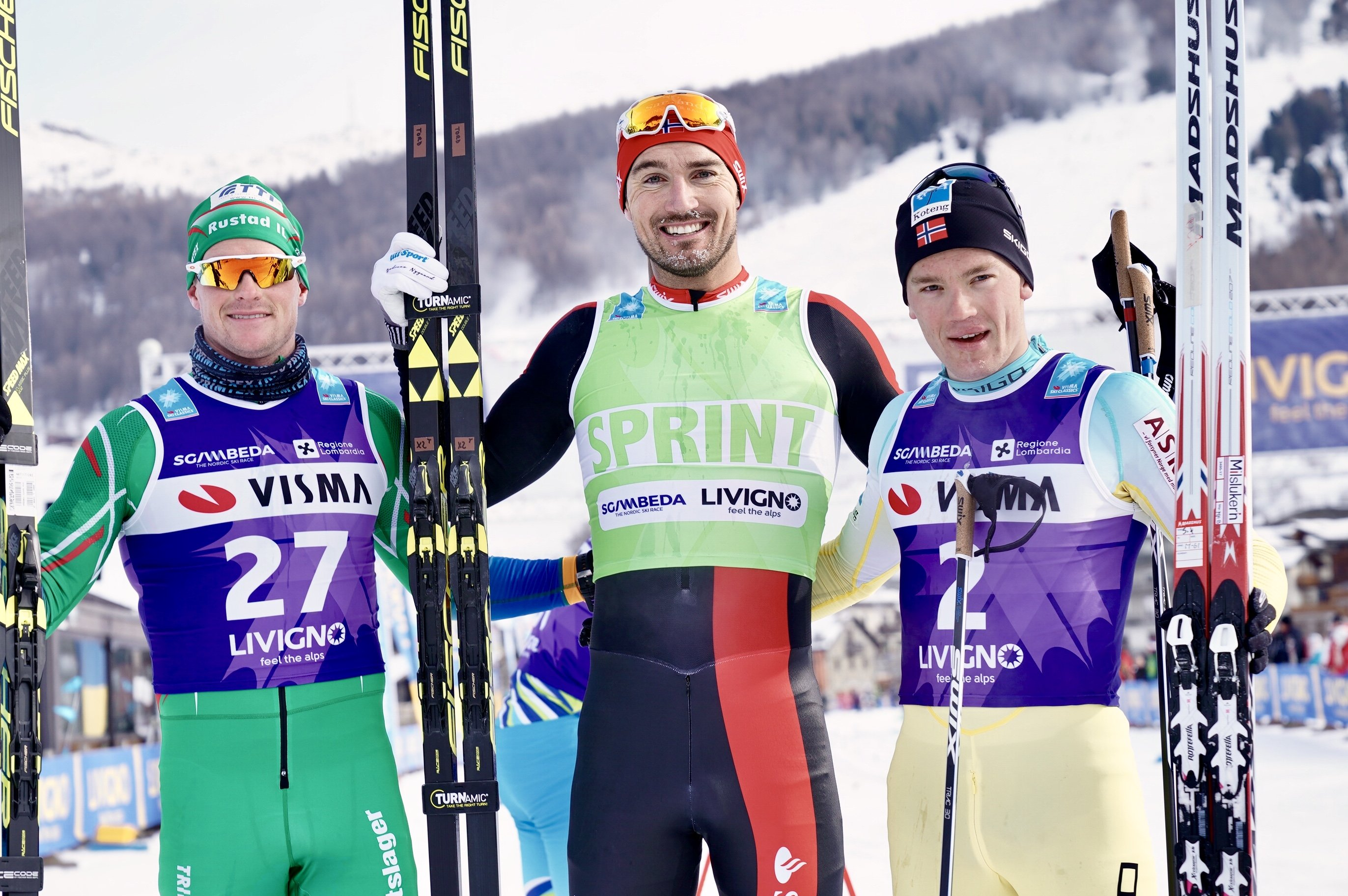 Thorgeir Skare Thygesen (2nd), Andreas Nygaard (winner), Stian Hoelgaard (3rd)