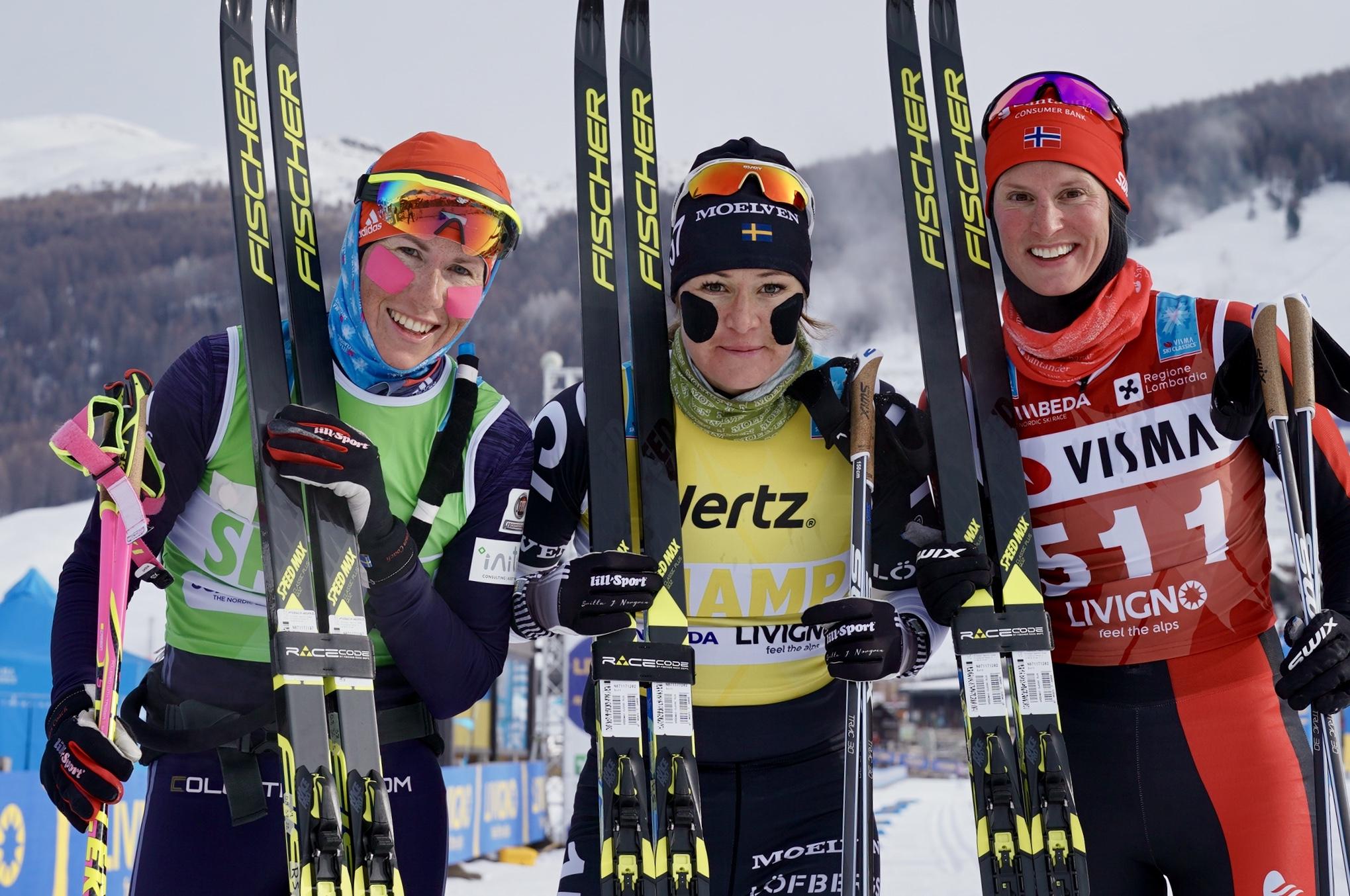 Katerina Smutna (2nd) Britta Johansson Norgren (winner) Kari Vikhagen Gjeitnes (3rd)
