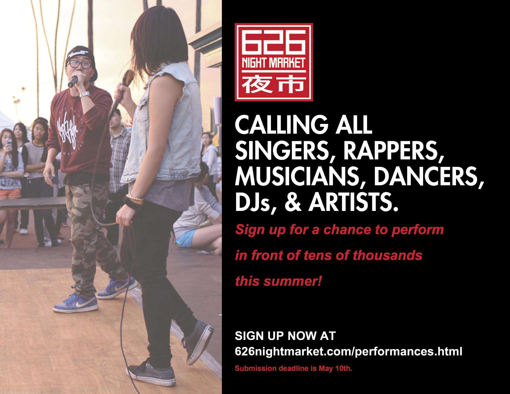 Performers wanted!