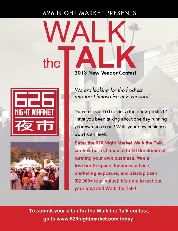 Walk the Talk new vendor contest