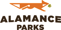 Alamance Parks Logo (A running fox with poplar leaf in mouth)
