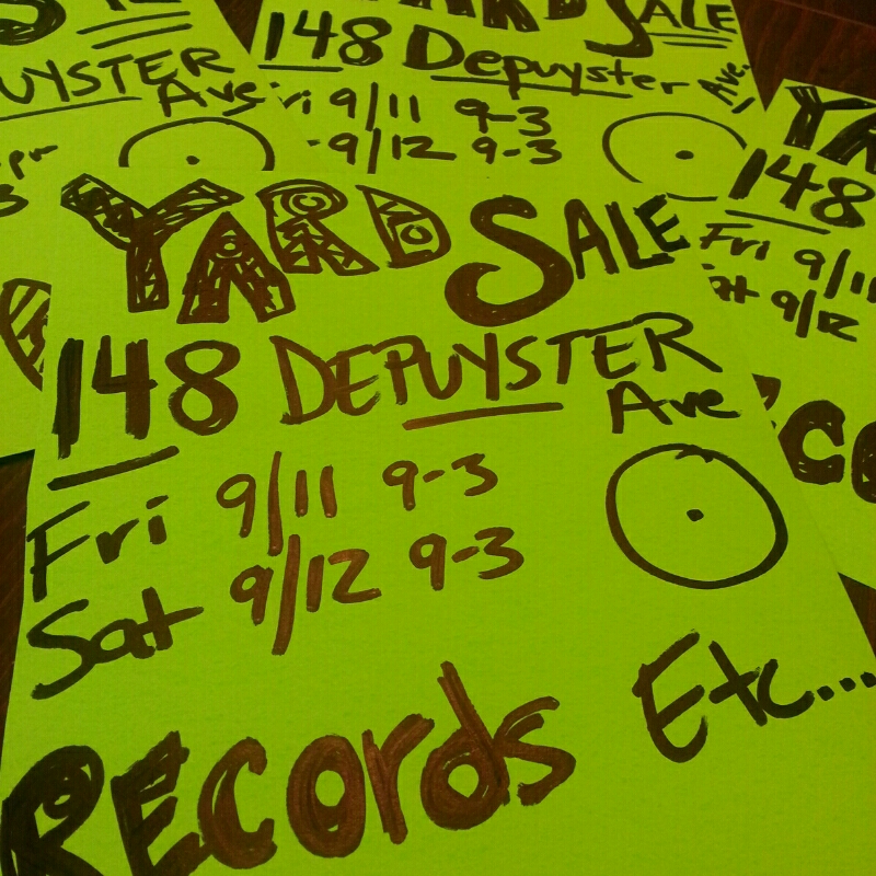 yardsale, records, etc this Friday and Saturday