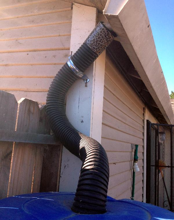 Simple Downspout Connection