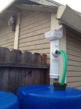 'Clean Rain' Downspout Diverter