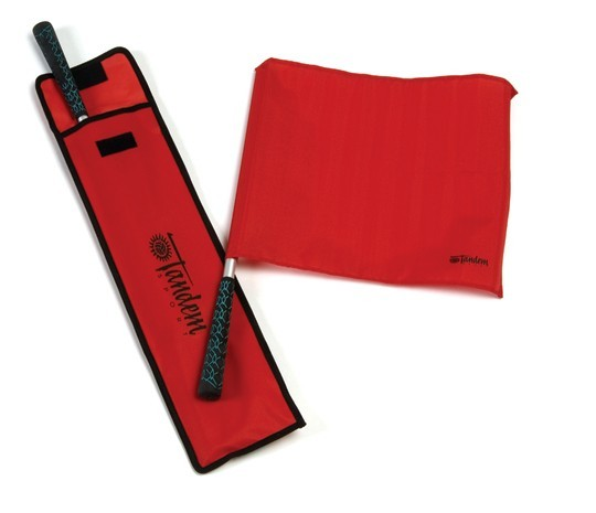 Elite Red Volleyball Linesman Flags with Case