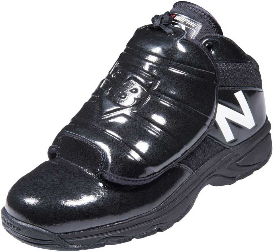 New Balance V3 Mid-Cut Black & White Umpire Plate Shoes