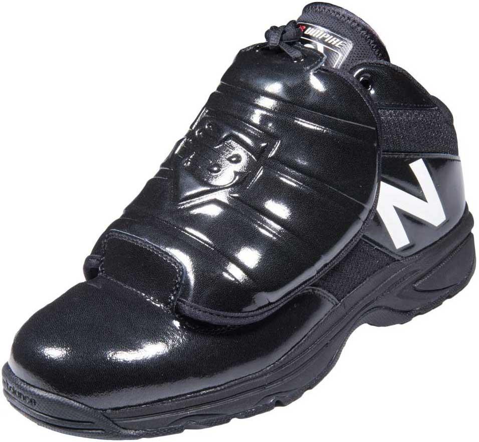 New Balance V3 Mid-Cut Black & White Umpire Plate Shoes