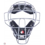 Force3 Umpire Mask Black with Silver