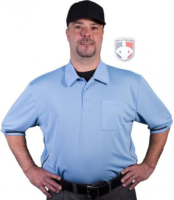 Smitty Vertical Stripe Umpire Shirt - Polo Blue