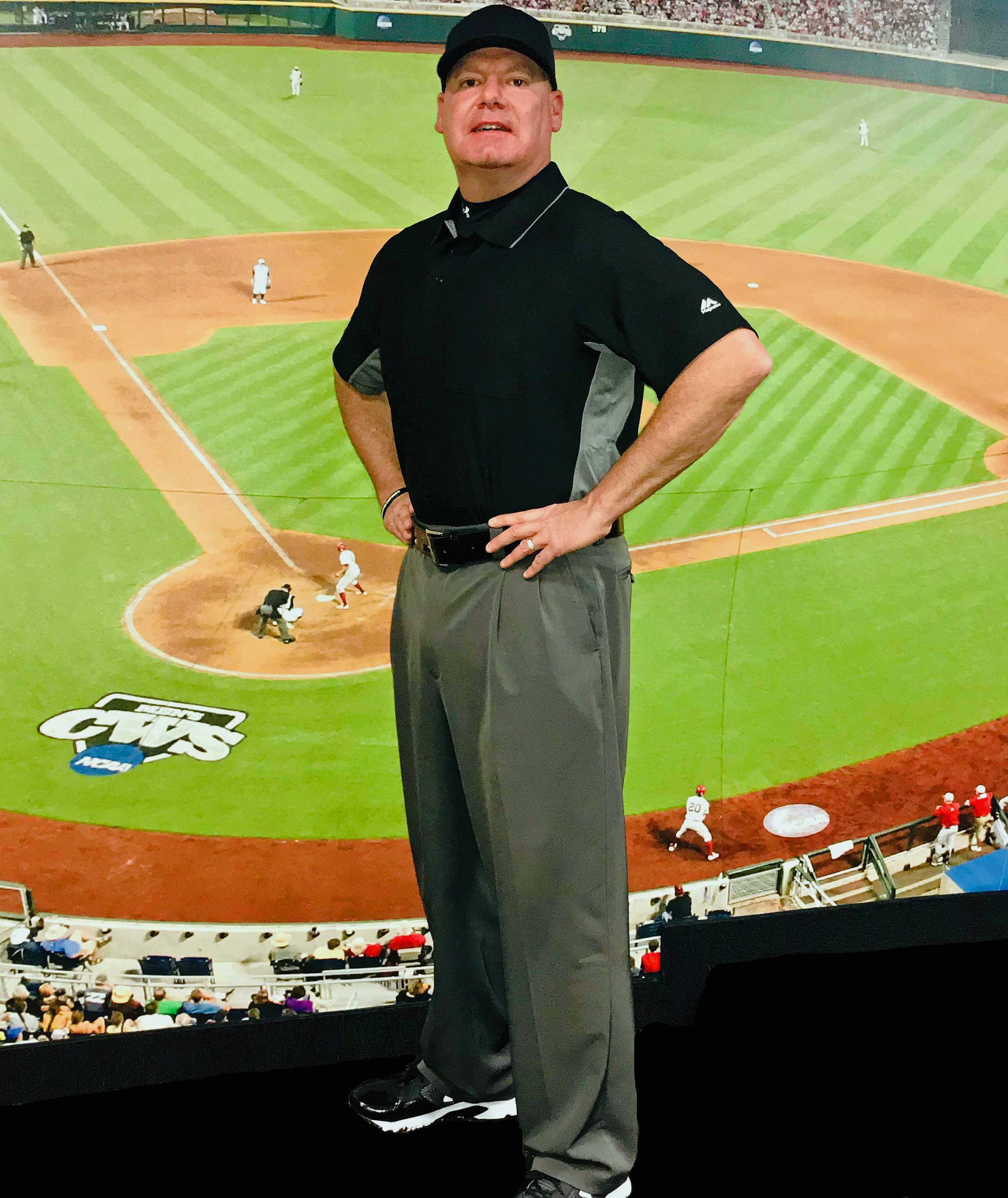 Scott Kennedy in Full Umpire Uniform