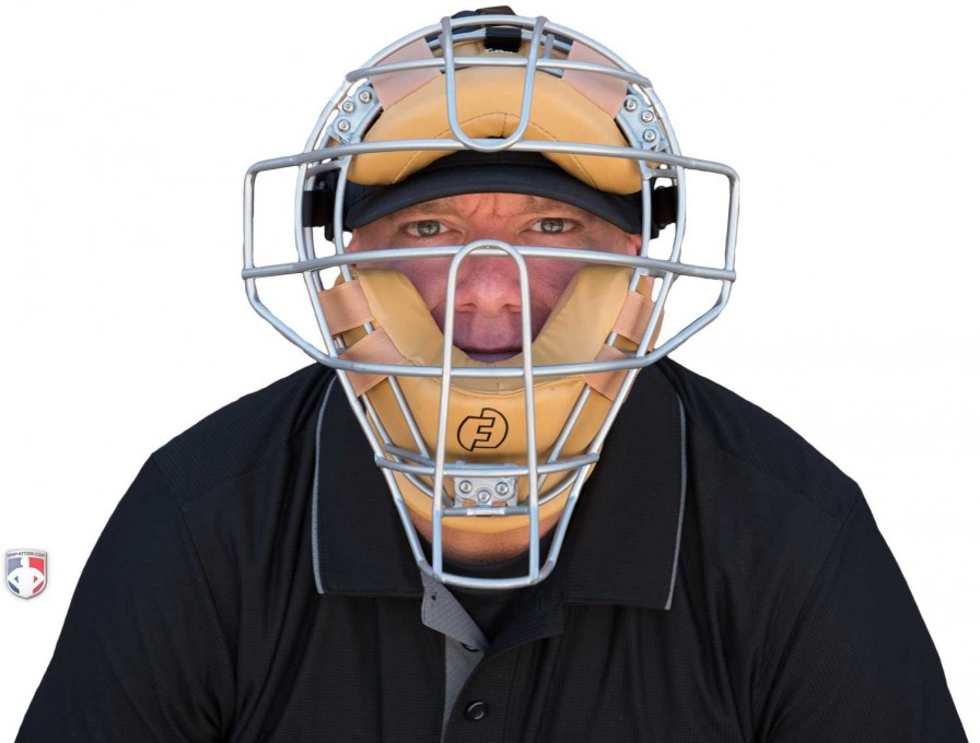 Force3 V2 Silver Defender Umpire Mask with Tan Pads