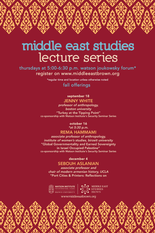 Middle East Studies Lecture Series