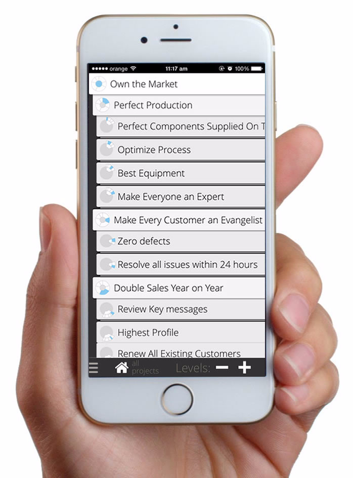 Goalscape Mobile screen