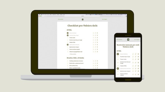 Checklist pro dokončení webu