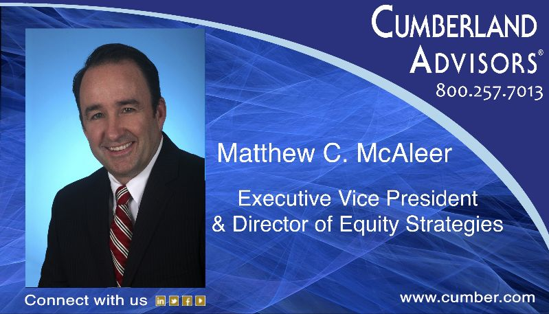 Matt McAleer, Director of Equity Strategies at Cumberland Advisors