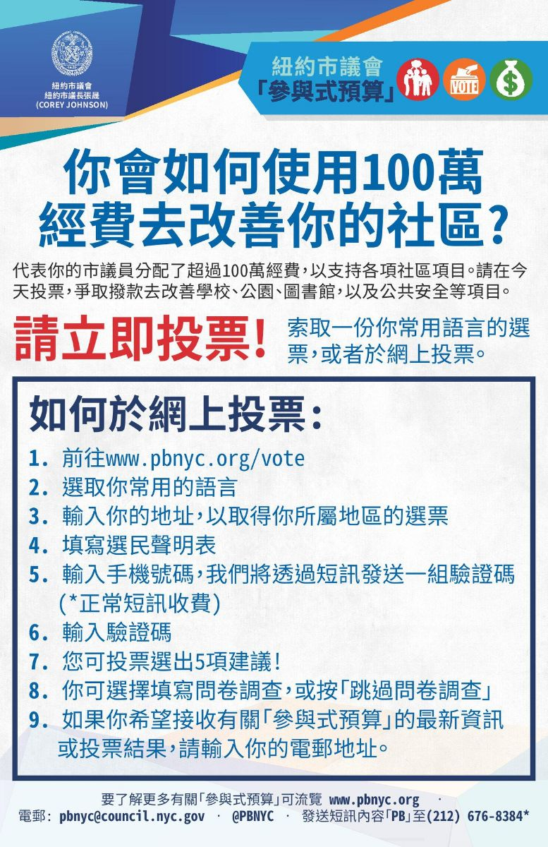 Info guides on Participatory Budgeting in Simplified Chinese.