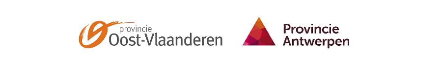 Onze hoofdsponsoren: provincie Oost-Vlaanderen en provincie Antwerpen.