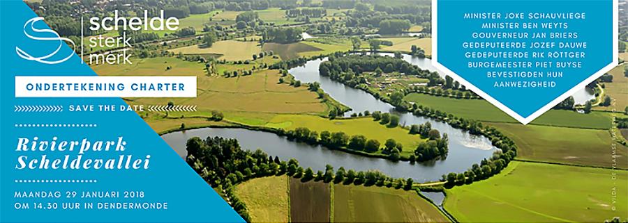 29.01 > ondertekening charter 'Rivierpark Scheldevallei'