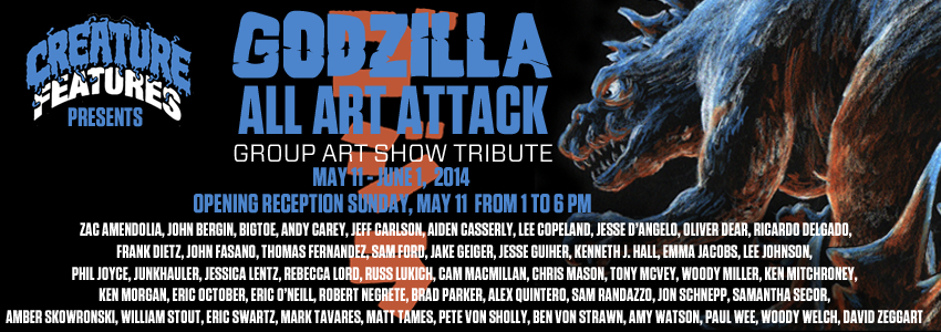 Godzilla All Art Attack