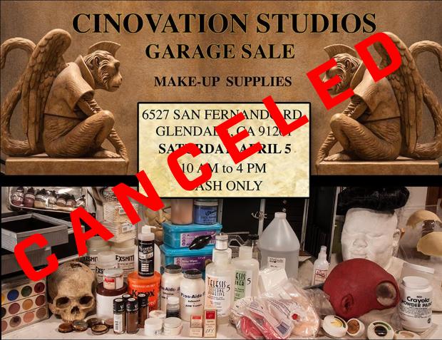 Cinovation Studios Garage Sale