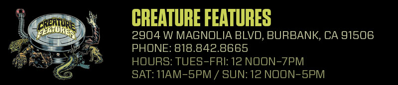 Creature Features Store Info