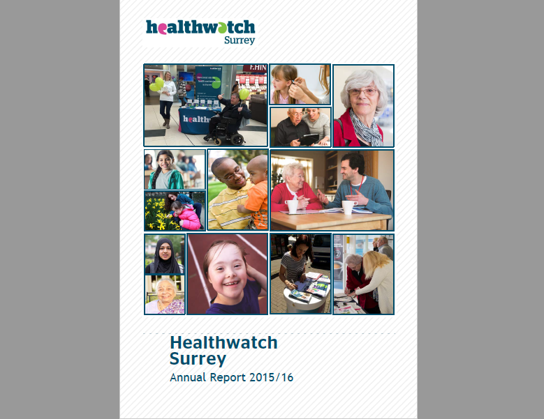 Healthwatch Surrey Annual Report cover